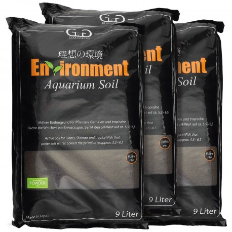 GlasGarten Environment Aquarium Soil Powder - 9 l