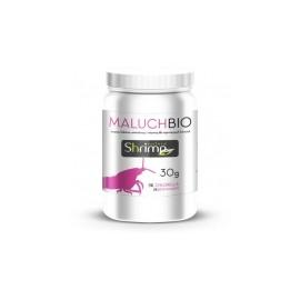 Shrimp Nature Maluch BIO - opakowanie 30 gram - Wieloskładnikowy pokarm roślinno-proteinowy dla młodych krewetek w proszku